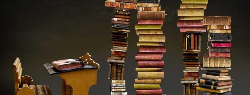 Für die Prüfung zur Bürovorsteherin muß ein gewaltiges Lesepensum absolviert werden