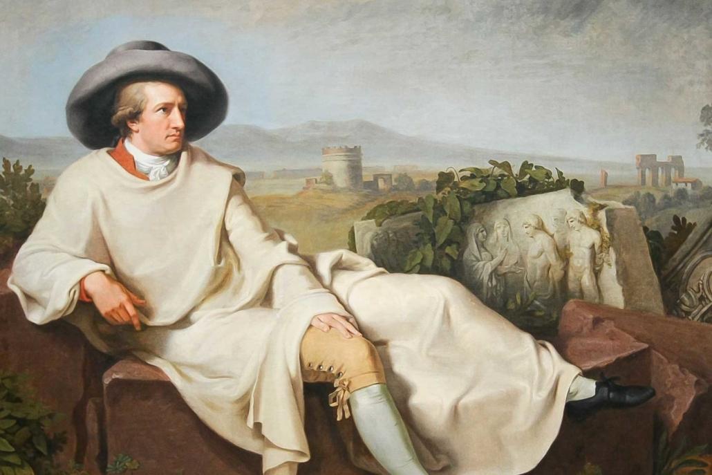 Berühmtes Bild Goethes. Ob über ihn wohl eine Regelanfrage eingeholt worden wäre?